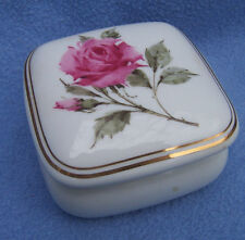 "Vintage ROSE MUSIC BOX white china ""What the World Needs Now is LOVE Sweet LOVE"""