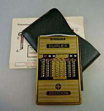 Zahlenschieber-Rechner Addiator Typ Duplex Messing ab 1950 (64466)