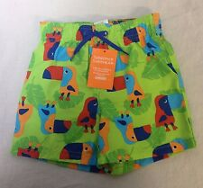 Gymboree Swim Shop Shorts Green Toucans 12-18 Mos Sunscreen Swimwear Trunks UPF