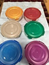 Plastic Bowl Food Storage Lock and Lock  6 Piece Set 24 Ounce Mix Color NEW