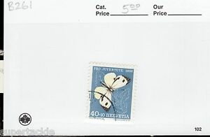 1956 Switzerland #B261 Θ used butterfly , insect postage stamp.