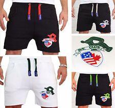 """Herren Capri kurze Hose Bermuda Damen Joggen Short Fitness USA """"R"""" Sport RMK NEU"""