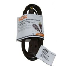 Tap Extension Cord 3 Outlets 6 Feet 13 Amp 16 Gauge Brown Indoor Power Cable