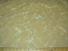 """~11 YDS~MATELASSE """"DRAGONFLIES""""ANIMAL~EMBROIDERED UPHOLSTERY FABRIC FOR LESS~"""