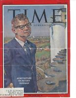 ORVILLE FREEMAN, SECRETARY OF AGRICULTURE, SIGNED MAGAZINE COVER / AUTOGRAPH