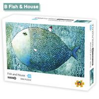 1000 Pieces DIY Jigsaw Puzzle Fish and House Children Adults Decompression To