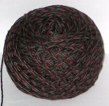 50g BALL EBONY BLACK Borgogna & Green Marle 3 Ply filati di cotone per maglieria lana