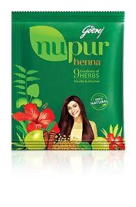 5X Godrej Nupur Henna Herbal Mehendi, (25g pouch)  Free Shipping