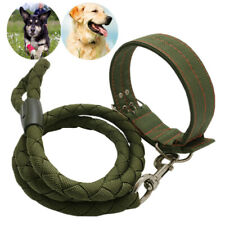 Heavy Duty Dog Collar Leash Nylon Collar Lead for Extra Large Big Dogs XXL XL L