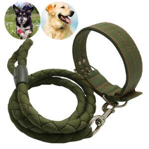 Heavy Duty Dog Collar Leash Nylon Collar Lead for Extra Large Big Dogs XXL XL L
