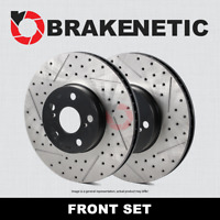 [FRONT SET] PREMIUM Drilled Slotted Brake Rotors BNP62128.DS CTS-V w/Brembo