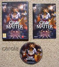 Gray Matter - PC Adventure Game - New