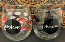 Listing (1) Monsieur & Madame Stemless Wine Glass. Item #1/420