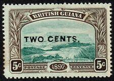 British Guiana 1899 2c. on 5c. shaved E, MH (SG#222d)