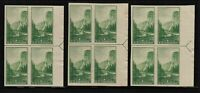 1935 Yosemite Sc 756 FARLEY unused NGAI right arrow blocks