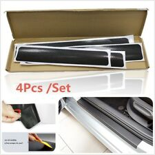 4PCS Accessories 3D Carbon Fiber Black Car door Plate Door Sill Scuff Plate
