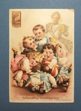 """Victorian Trade Card PONDS EXTRACT fighting children """"Successful Interference"""""""
