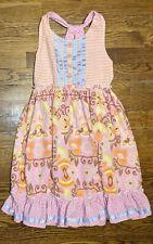 Girl, Matilda Jane Size 12 Pink, Orange Sleeveless Dress