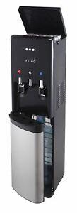 Primo hTRiO Bottom Loading Water Dispenser with Single Serve Brewing, Black/Stai