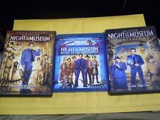 (3) Night at the Museum Children's Blu-Ray/DVD Lot: Night at Museum 1, 2 & 3