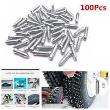 100Pcs Carbon Steel Wheel Tire Stud Screws For Car Truck Motorcycle Tires Winter