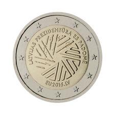 """Latvia 2 Euro commemorative coin 2015 - """"EU Presidency"""" - UNC"""
