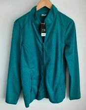 New with tags Crivit Outdoor Jacket Ladies Size Large, Patterned Turquoise.