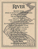 Poster Page ODE TO THE RIVER Pagan Wicca Book of Shadows Guide 8 1/2x11