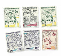 Czechoslovakia postage stamps Sports Events of 1965 x 6