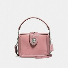 NWT COACH PAGE CROSSBODY WITH TEA ROSE TOOLING, 12033 DUSTY ROSE -FREE SHIPPING!