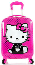 NEW Heys America Luggage Hello Kitty 3D Spinner Carry On 4 Wheeled Suitcase Pink