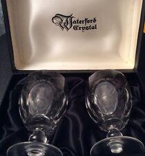 Pair Ltd Ed Waterford Crystal 'St John Ambulance 1877-1977 Centenary' Goblets