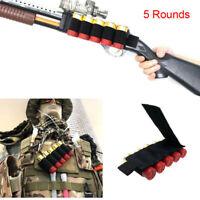 New Tactical 5 Rounds Shot Gun Shell Holder Ammo Cartridge Pouch Holster 12/20GA