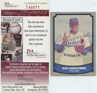 1988 Pacific Don Newcombe Signed Autographed Card JSA COA Brooklyn Dodgers