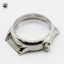 New 44mm Sterile 316L Steel Watch Case fit ETA 6497/6498 seagull st36 watch