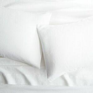 CB2 Linen White Full Sheet Set $209, New!