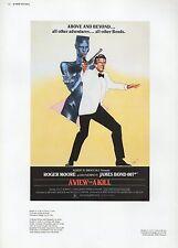 "2002 Vintage JAMES BOND ""A VIEW TO A KILL"" BRITISH MINI POSTER ART Lithograph"