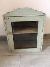 ancienne Armoire de Toilette Pharmacie en bois  Vitrée Vintage Deco