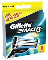 Gillette Mach3 Pack Of 8 Cartridges Shaving Blades For Razor New Germany