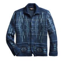NWT New RRL Ralph Lauren Indigo Shirt Blanket Jacket Overshirt Men's Small S