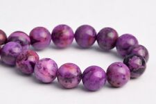 """8MM Natural Deep Purple Crazy Lace Agate Grade AAA Round Loose Beads 7.5"""""""
