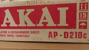 AKAI AP-D210 Direct Drive Turntable, Brand New..!  Made in Japan