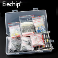 Metal film Resistor assortment kit led diodes Electrolytic Capacitor Ceramic set