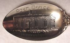Sterling Souvenir Spoon Marshaltown, IA, Post Office, CA 1900, Mechanics Co
