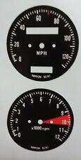 Honda CB500 500 Overlay Cafe Racer Gauge Face Decal Applique Mph Dial Clock 71