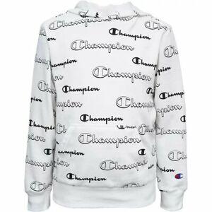 Champion Logo Script Boys' Pullover Hoodie Sweatshirt
