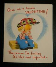Vintage Unused Norcross Valentine Greeting Card With Feather