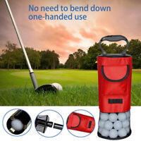 Golf Shag Bag 75-80 Balls Holds Pocket Tees Pick Up Ball Storage Collector