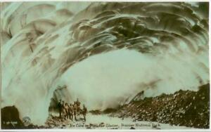 c1915 Rainier National Park Ice Cave Paradise Glacier Real Photo - color-tinted
