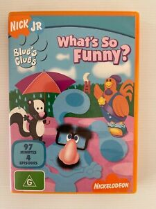 WHAT'S SO FUNNY? Blue's Clues NICK JR DVD Region 4 PAL Nickelodeon